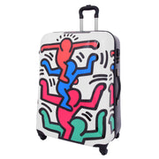 Robust Hard Shell Suitcase Stack Up Man Print 4 Wheel Luggage Bags Large 1