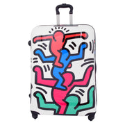 Robust Hard Shell Suitcase Stack Up Man Print 4 Wheel Luggage Bags Large 2