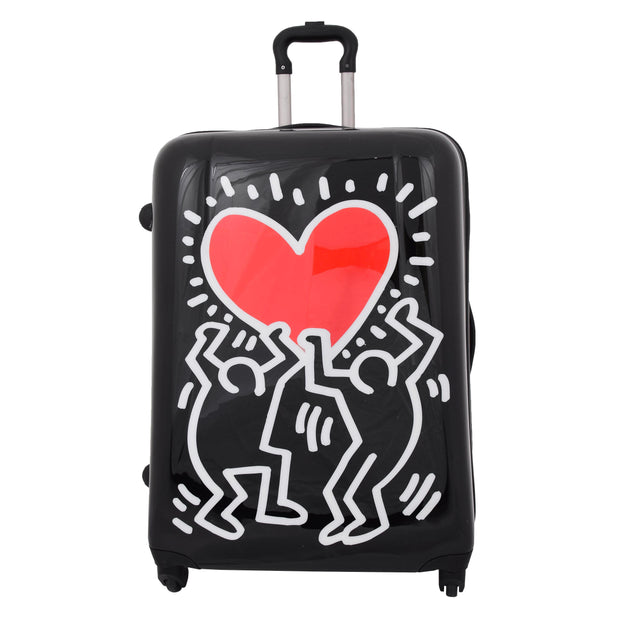 Tough Hard Shell Suitcase Big Heart 4 Wheel Luggage TSA Lock Bags Large 2
