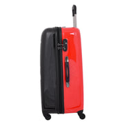 Tough Hard Shell Suitcase Big Heart 4 Wheel Luggage TSA Lock Bags Large 3