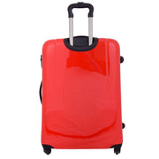 Tough Hard Shell Suitcase Big Heart 4 Wheel Luggage TSA Lock Bags Large 4