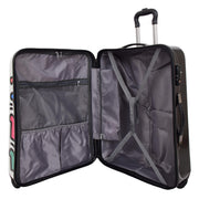 Robust Hard Shell Suitcase Stack Up Man Print 4 Wheel Luggage Bags Large 5