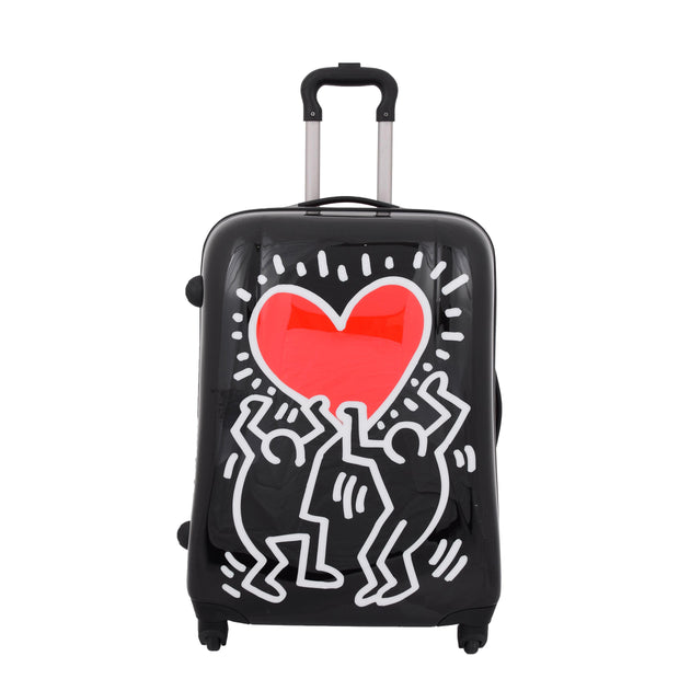 Tough Hard Shell Suitcase Big Heart 4 Wheel Luggage TSA Lock Bags Medium 2