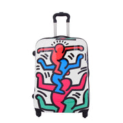Robust Hard Shell Suitcase Stack Up Man Print 4 Wheel Luggage Bags Medium 2