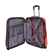 Tough Hard Shell Suitcase Big Heart 4 Wheel Luggage TSA Lock Bags Medium 5