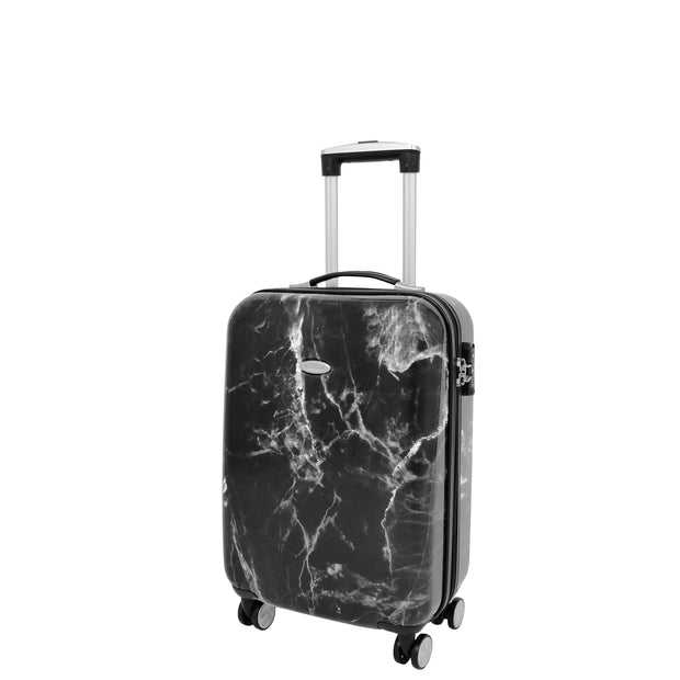 4 Wheel Luggage Hard Shell Expandable Suitcases Black Granite Small 1
