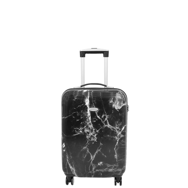 4 Wheel Luggage Hard Shell Expandable Suitcases Black Granite Small 2