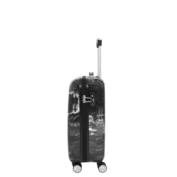 4 Wheel Luggage Hard Shell Expandable Suitcases Black Granite Small 3