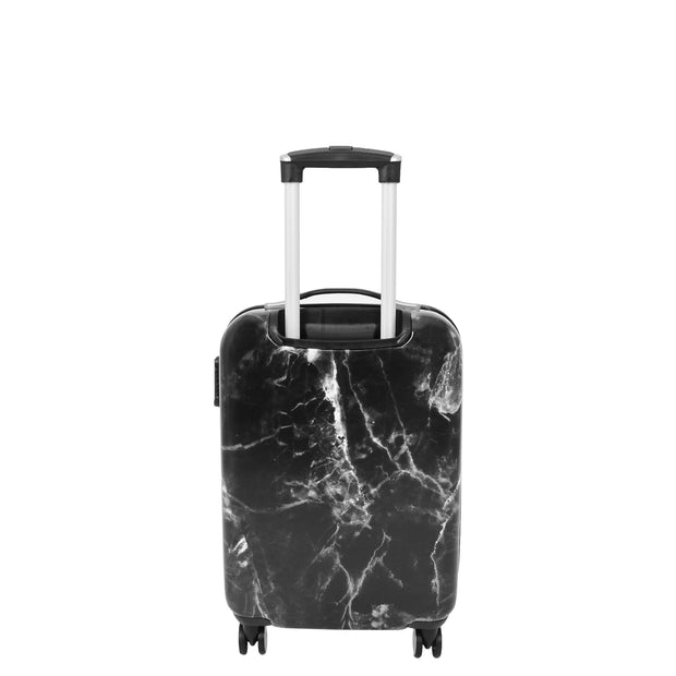 4 Wheel Luggage Hard Shell Expandable Suitcases Black Granite Small 4