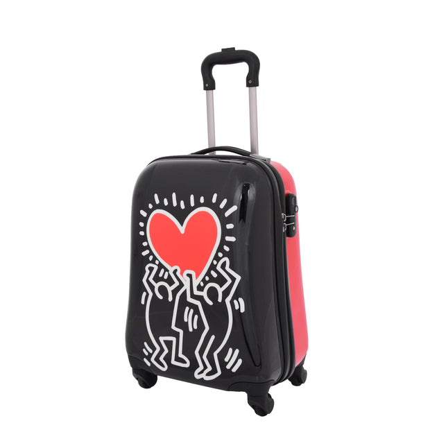 Tough Hard Shell Suitcase Big Heart 4 Wheel Luggage TSA Lock Bags Small 1