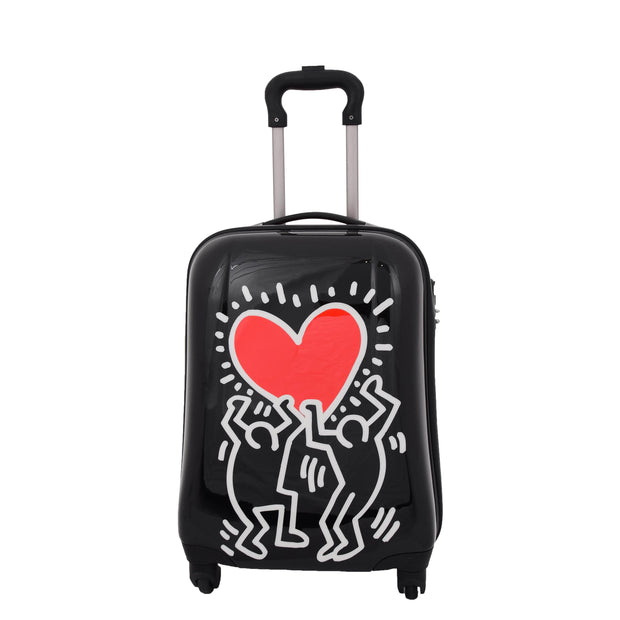 Tough Hard Shell Suitcase Big Heart 4 Wheel Luggage TSA Lock Bags Small 2