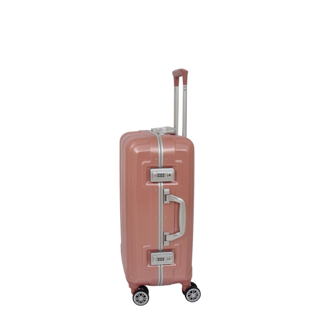 Cabin Four Wheel Metal Frame Hand Luggage Rose Gold Suitcase Regent