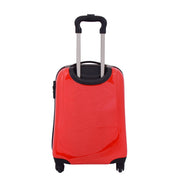 Tough Hard Shell Suitcase Big Heart 4 Wheel Luggage TSA Lock Bags Small 4