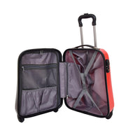 Tough Hard Shell Suitcase Big Heart 4 Wheel Luggage TSA Lock Bags Small 5