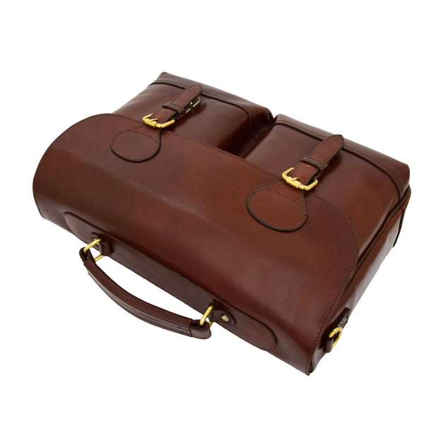 Luxurious Leather Briefcase Classy Business Laptop Bag Buddy Brown Letdown