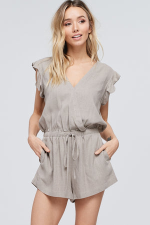 Mocha Sleeveless Romper