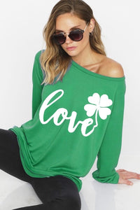 St Patty's Day Wide Neck Sweatshirt