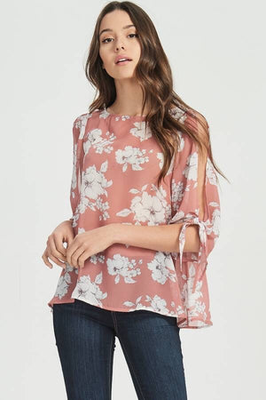 Cold Sleeved Chiffon Blouse
