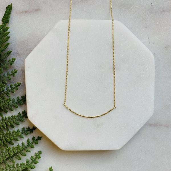 Delicate Curved Bar Necklace