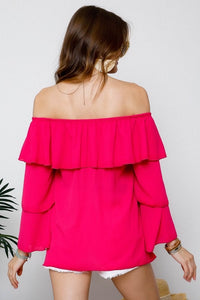 Fuchsia Off Shoulder Top