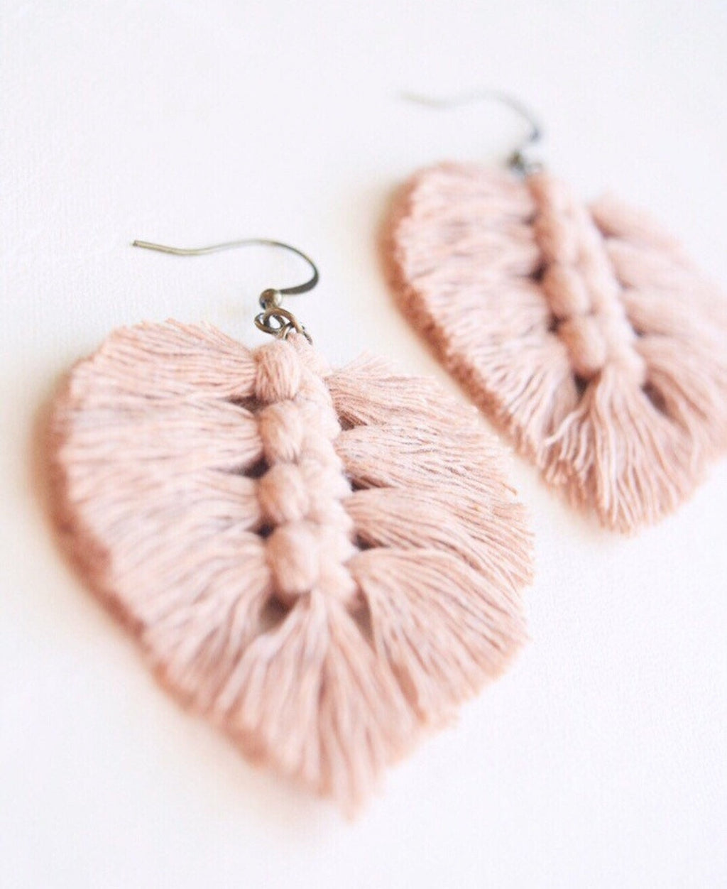 Pure Eclectics Mini Macrame Feather Earrings
