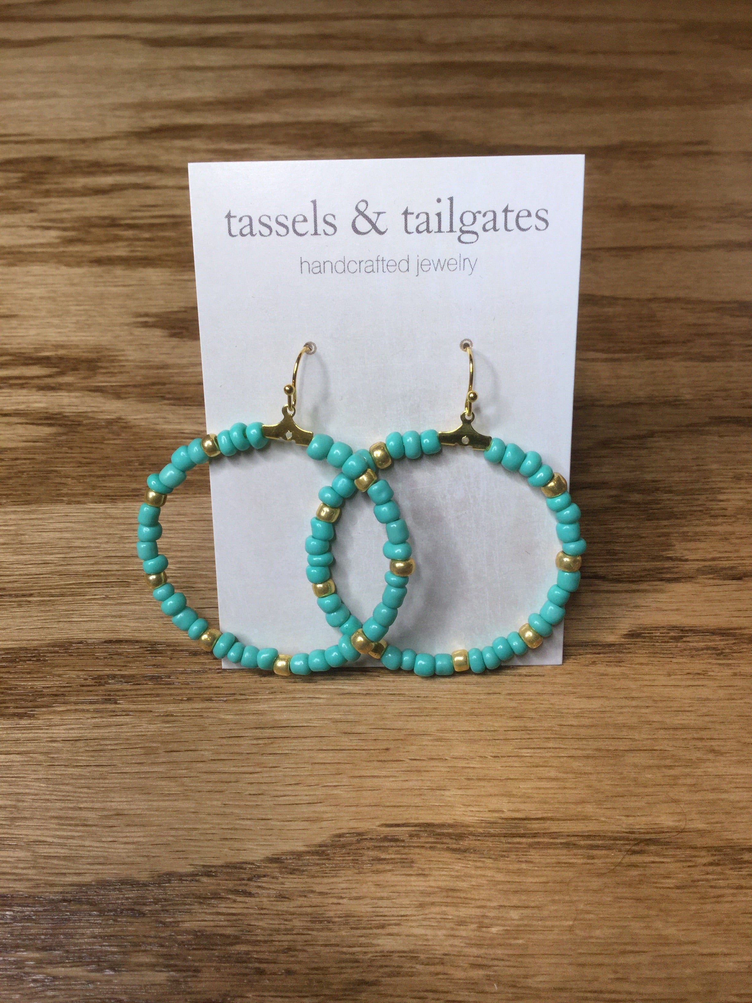 Caitlyn Beaded Hoops