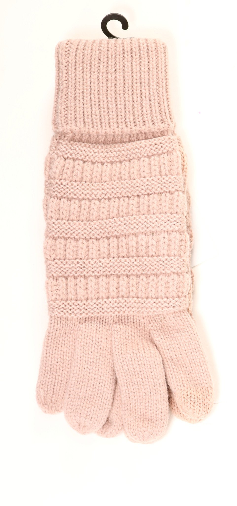 C.C. Solid Cable Knit Gloves