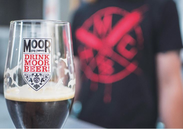 Moor Beer Co glass and tshirt