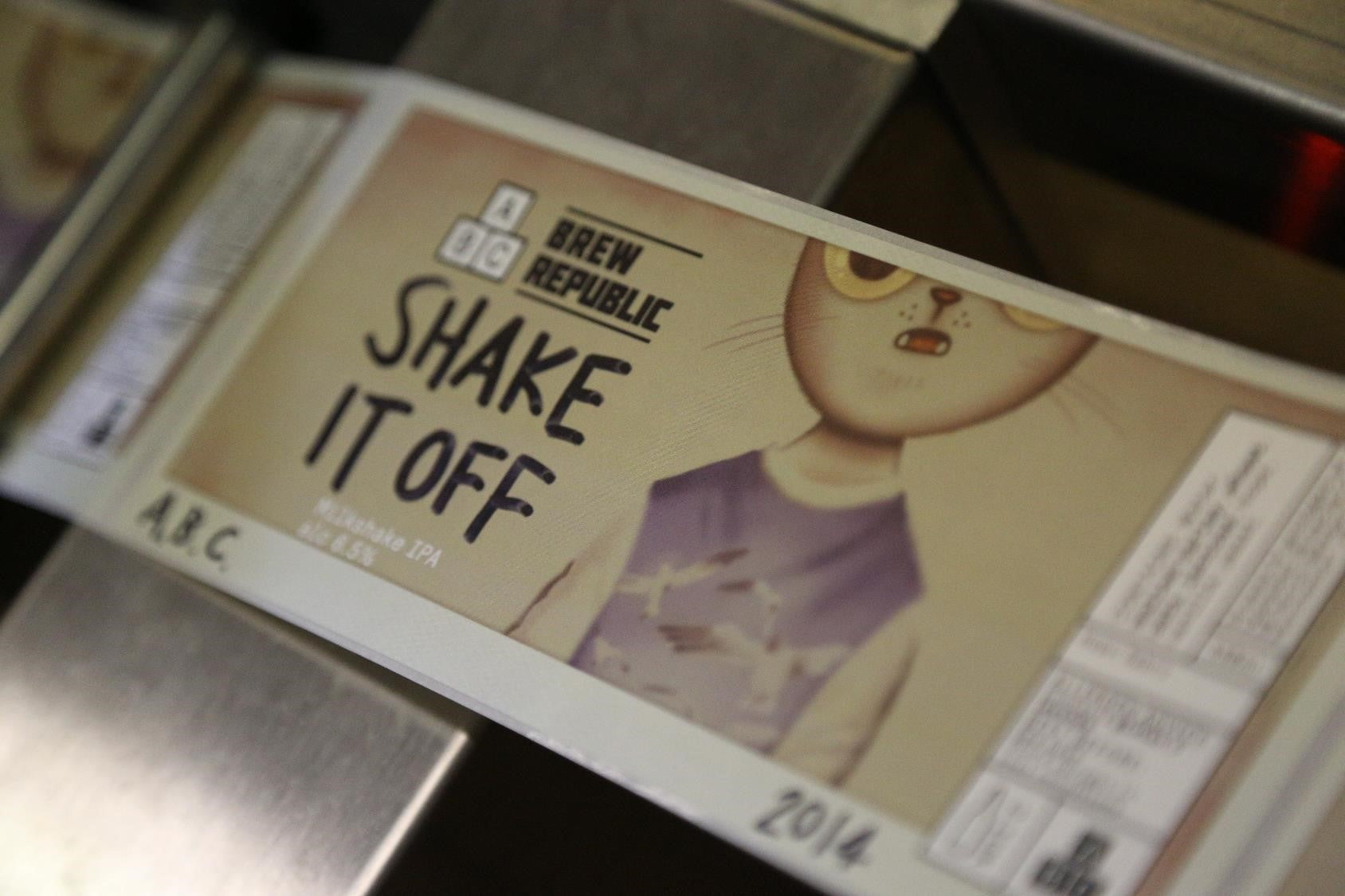 Alphabet x Brew Republic Colla - Shake it Off craft beer can art
