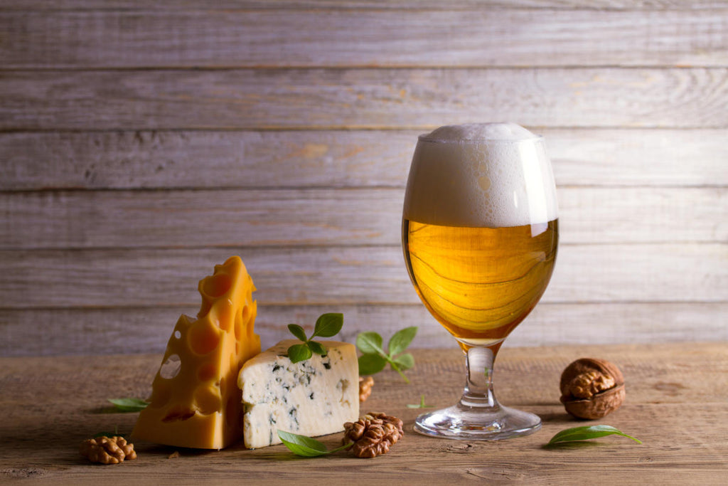 Beer tasting at home - Beer and cheese IPA