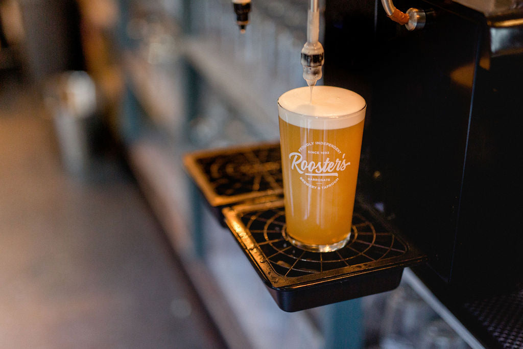 Pint of Rooster's – incredible craft beer from Harrogate.