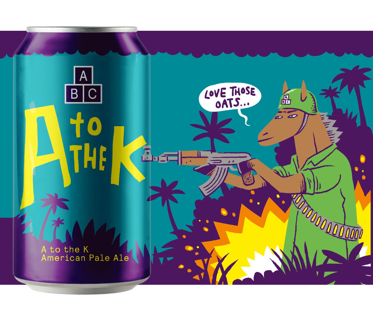 Alphabet A to the K craft beer can art