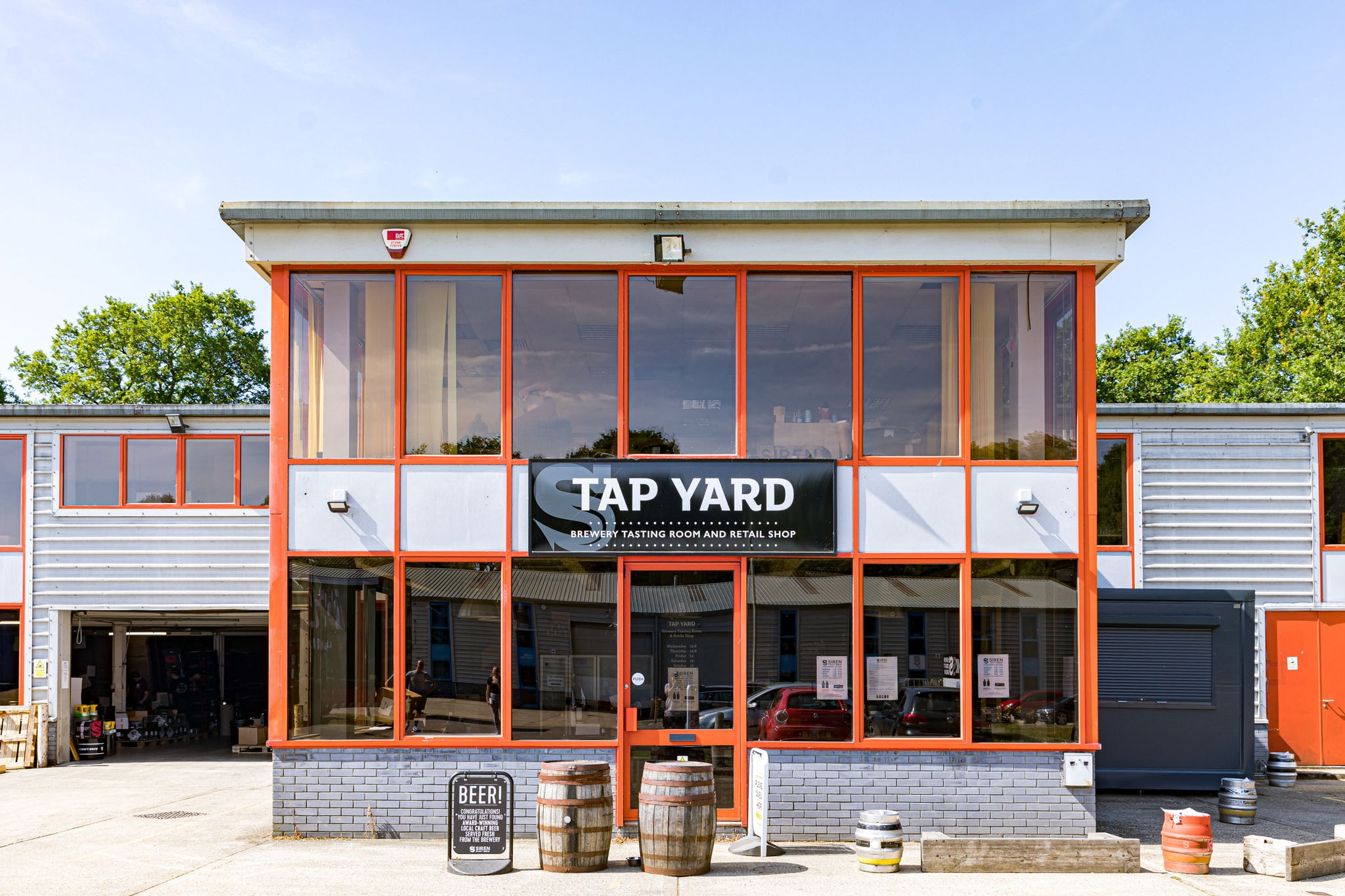 The Siren Craft Brew tap yard is the perfect place to sample the range of Siren beer