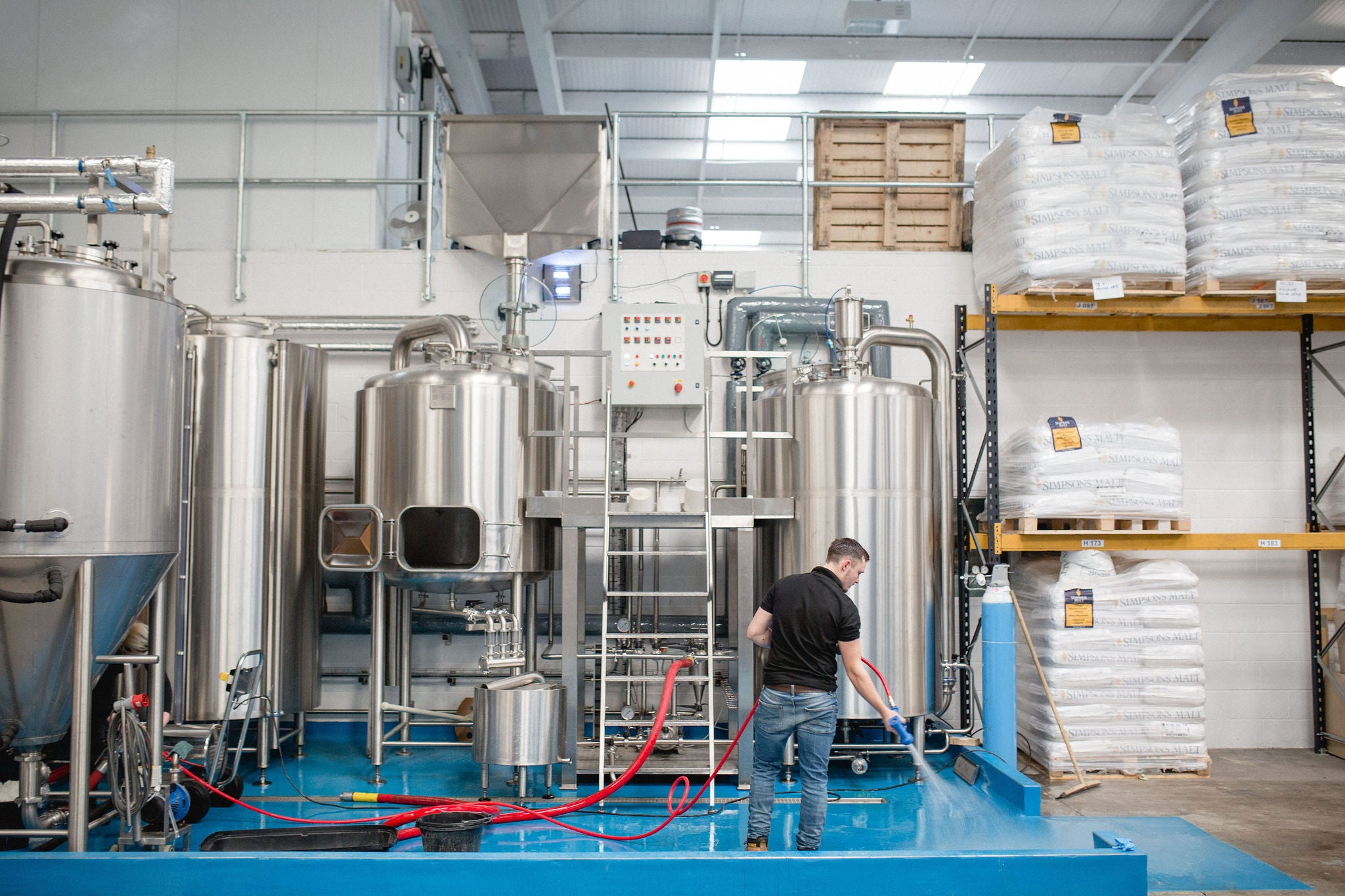 Cleaning the Harrogate brewery – home of Baby-Faced Assassin and Buckeye beer.