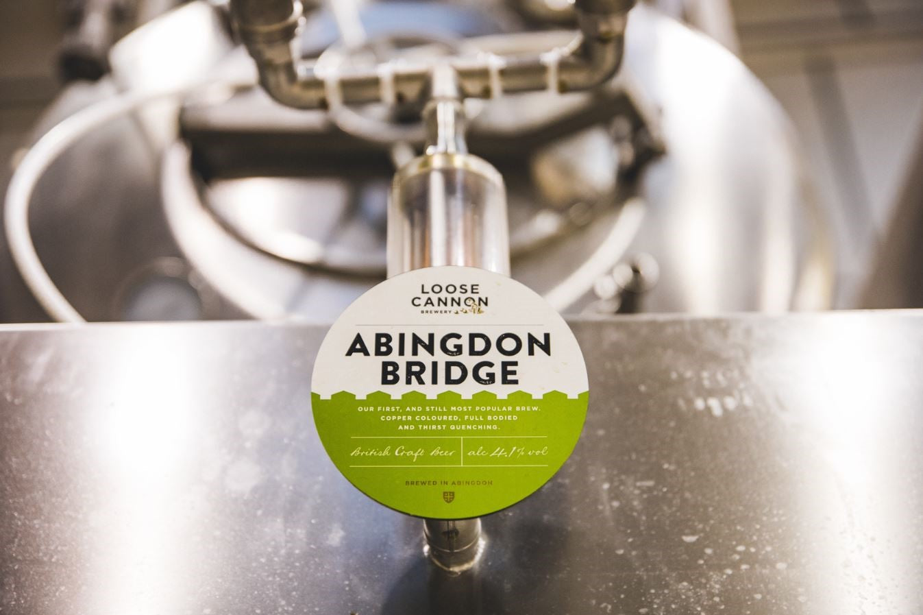 Abingdon Bridge beer from Loose Cannon's Abingdon brewery.