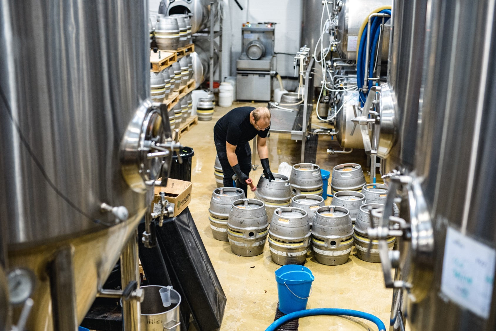 Loose Cannon Brewery in action