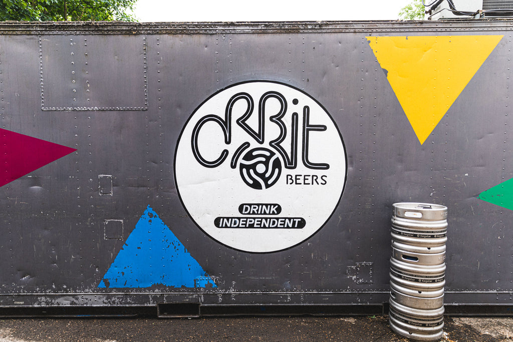 Orbit Beers - Logo at Brewery