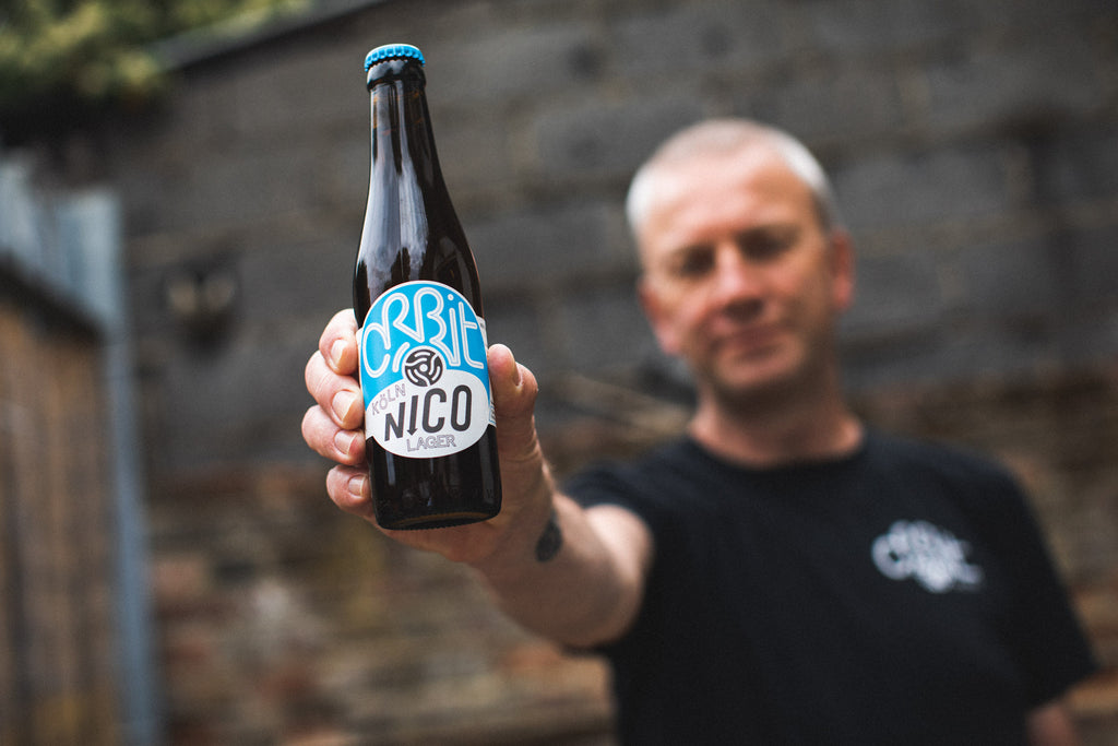 Orbit Beers - Robert Middleton with Nico bottle