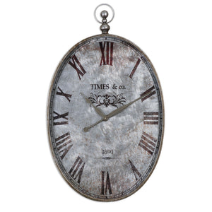 Uttermost Argento Antique Wall Clock 06642