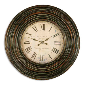 "Uttermost Trudy 38"" Wooden Wall Clock 06726"