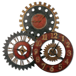 Uttermost Rusty Movements Wall Clock 06762