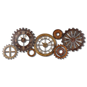 Uttermost Spare Parts Wall Clock 06788