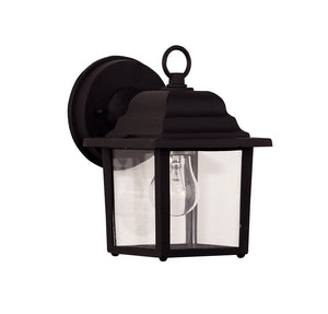 Exterior Collection 1 Light Outdoor Wall Lantern in Black Finish by Savoy House 07067-BLK