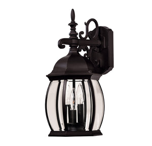 Exterior Collection 3 Light Outdoor Wall Lantern in Black Finish by Savoy House 07071-BLK