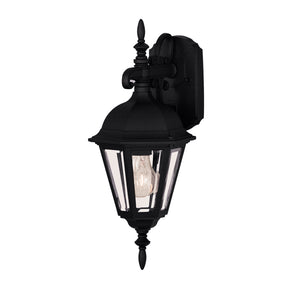 Exterior Collection 1 Light Outdoor Wall Lantern in Black Finish by Savoy House 07075-BLK