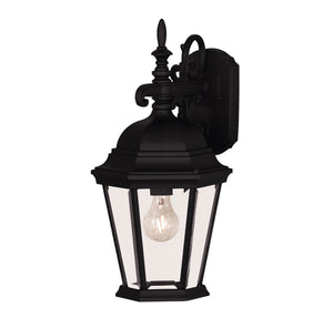Exterior Collection 1 Light Outdoor Wall Lantern in Black Finish by Savoy House 07077-BLK