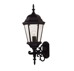Exterior Collection 1 Light Outdoor Wall Lantern in Black Finish by Savoy House 07078-BLK