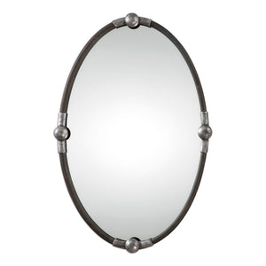 Uttermost Carrick Black Oval Mirror 09064
