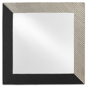 Calum Silver Square Mirror by Currey and Company 1000-0068