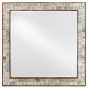 Hyson Square Mirror by Currey and Company 1000-0069